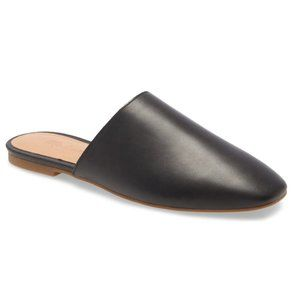Madewell The Cory Mule in Black Leather Size 7